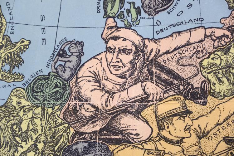 Humoristische Karte Von Europa 1914.Europe Lehmann Dumont Karl Humoristische Karte Von