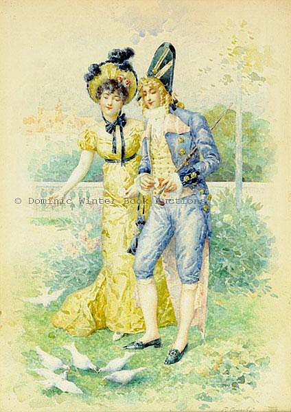 Courche (Felix, b. 1863). Young couple feeding