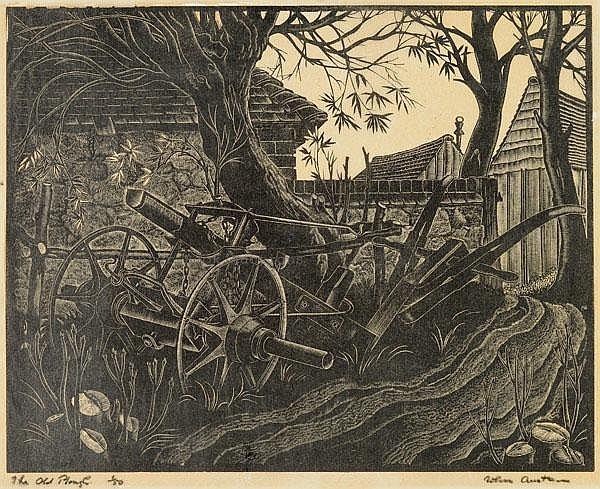 Austen (John, 1886-1948). The Old Plough, wood