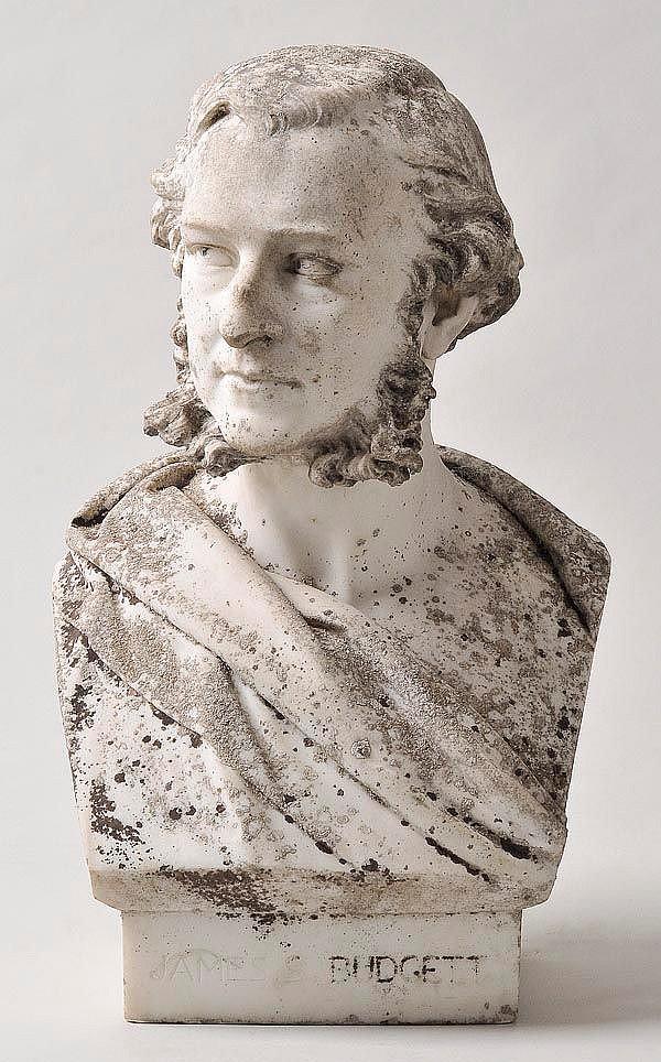 Adams-Acton (John, 1830-1910). White marble bust