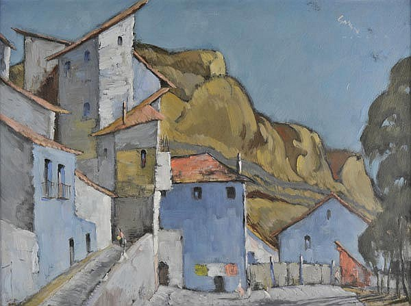 Green (Leonard James, 1905-1993). - Spanish townscape,