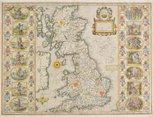 British Isles. Speed (John), Britain as it was devided in the tyme of the Englishe Saxons especially during their Heptarchy, published John Sudbury & George Humble, circa 1627,