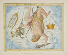 * Celestial Charts. Jamieson (Alexander), Sixteen charts originally published in 'Celestial Atlas: A Systematic Display of the Heavens and the Constellations', published G & W.B.Whittaker, 1822,