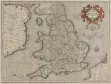 * England & Wales. Mercator (Gerard), Anglia Regnum, [1595 or later],