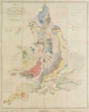 England & Wales. Walker (J. & C.), A Geological Map of England & Wales showing also the Inland Navigation by means of Rivers and Canals with their Elevation in feet above the Sea, together with the Rail Roads and principal Roads, published J & C Wal