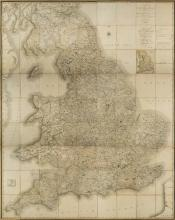England & Wales. Cary (John), Cary's New Map of England and Wales with Part of Scotland, on which are carefully laid down all the Direct and Principal Cross Roads, the Course of the Rivers and the Navigable Canals, Cities, Market and Borough Towns,