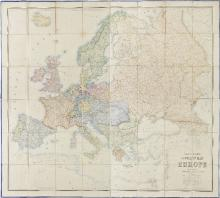 Johnston (Alexander Keith). Stanford's Library Map of Europe, constructed by A. Keith Johnston, Edward Stanford, June 1st, 1858,