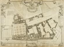London. Vertue (George), A Survey & Ground Plot of the Royal Palace of Whitehall with the Lodgings and Apartments belonging to their Majesties, 1747,