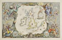 Pine (John). Six sea charts originally published in 'The Tapestry Hangings of the House of Lords, Representing the Several Engagements between the English and Spanish Fleets, in the Ever Memorable Year MDLXXXVII..., published John Pine, 1739,