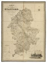 Staffordshire. Phillips (J. & Hutchings W.F.), A Map of the County of Stafford, Divided into Hundreds & Parishes from an accurate Survey, made in the years 1831 and 1832, [published Henry Teesdale, 1832],