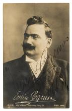* Caruso (Enrico, 1873-1921). Real photo postcard by Mertens, Mai & Co.,