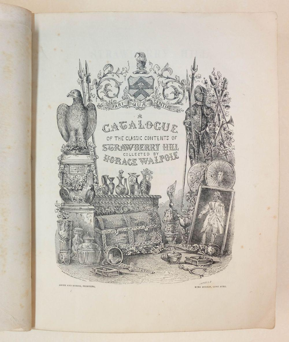 Auction catalogue. Catalogue of the Contents of Strawberry Hill, 1842