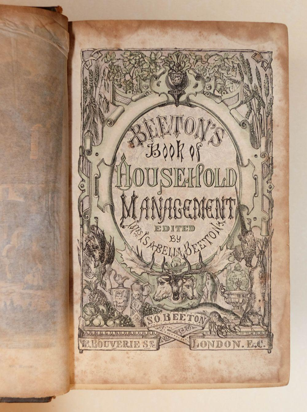 Beeton (Isabella). The Book of Household Management, 1st edition, 1861