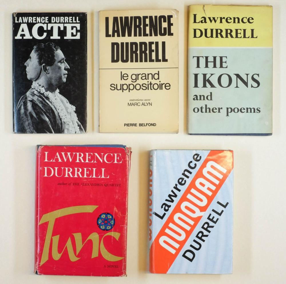 Durrell (Lawrence, 1912-1990). Acte, first edition, Faber & Faber, 1965