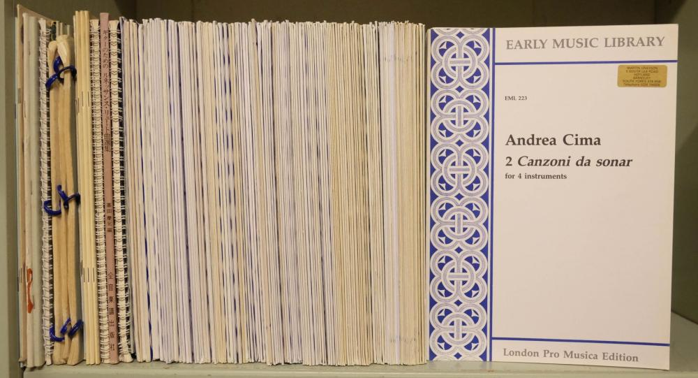 Early Music Library. Collection of approximately 150 Renaissance music scores, c.2000