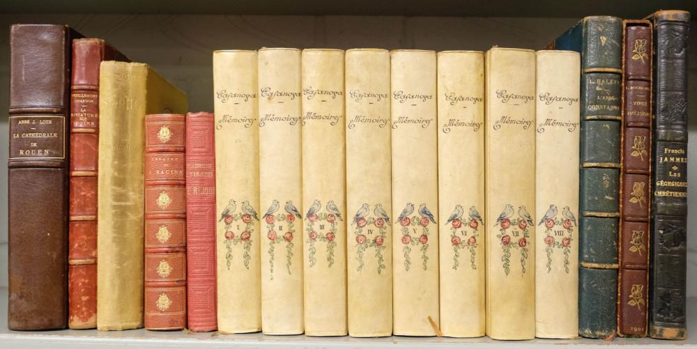 Casanova (Giacomo). Mémoires, 8 volumes, 1926-7, painted bindings, & other French literature