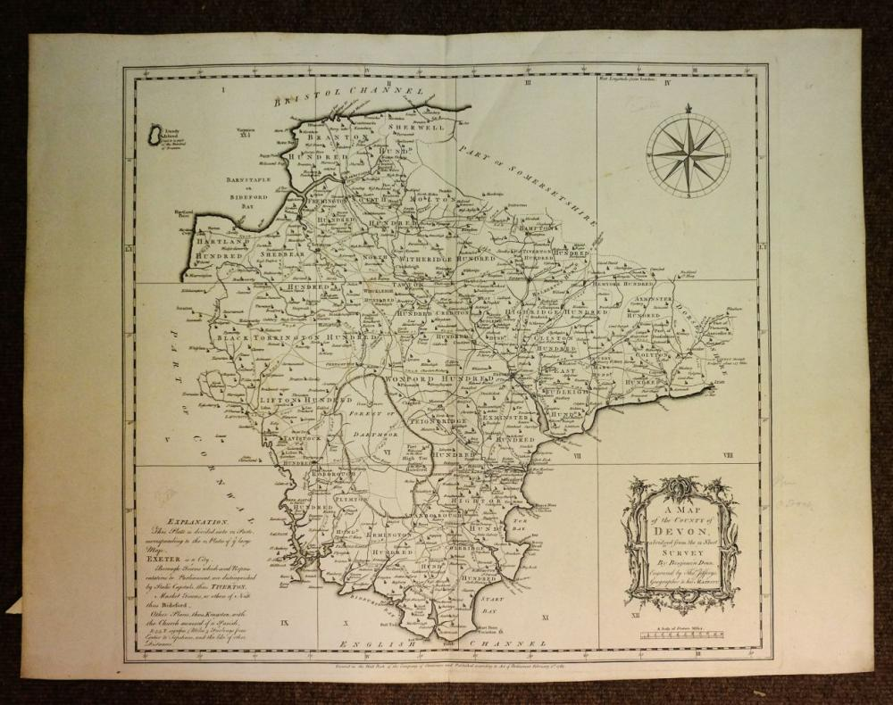 Maps. A mixed collection of approximately twenty maps, mostly 18th & 19th century,