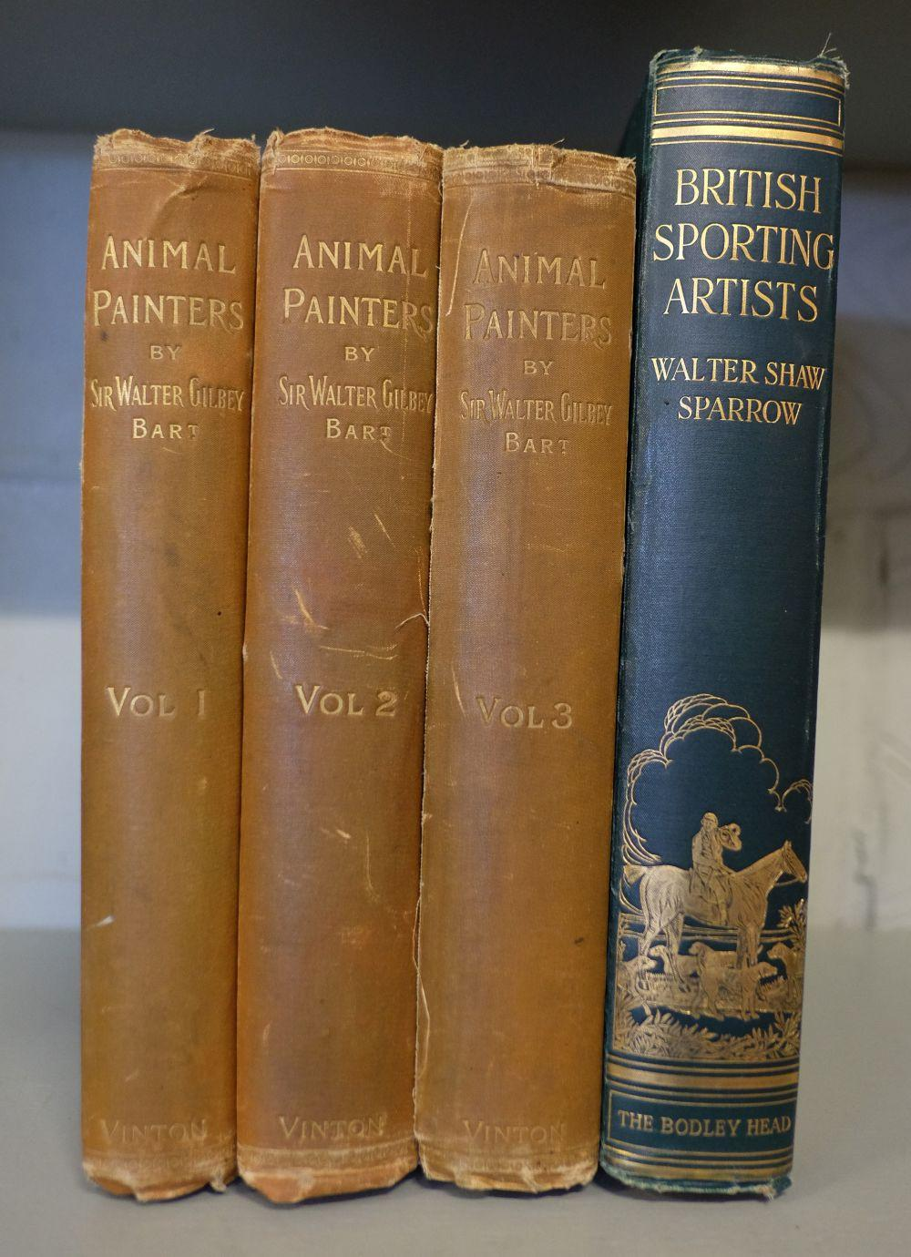 Gilbey (Sir Walter). Animal Painters of England from the Year 1650, 3 volumes, 1900-1911