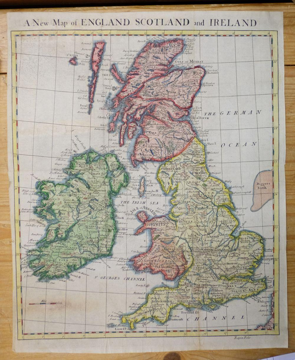 British Isles. A mixed collection of approximately 140 maps, mostly 19th century