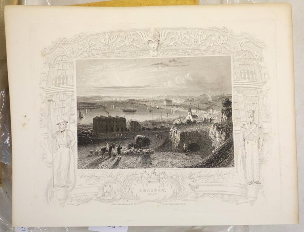 * British topographical views. A mixed collection of approximately 600 prints, 19th century