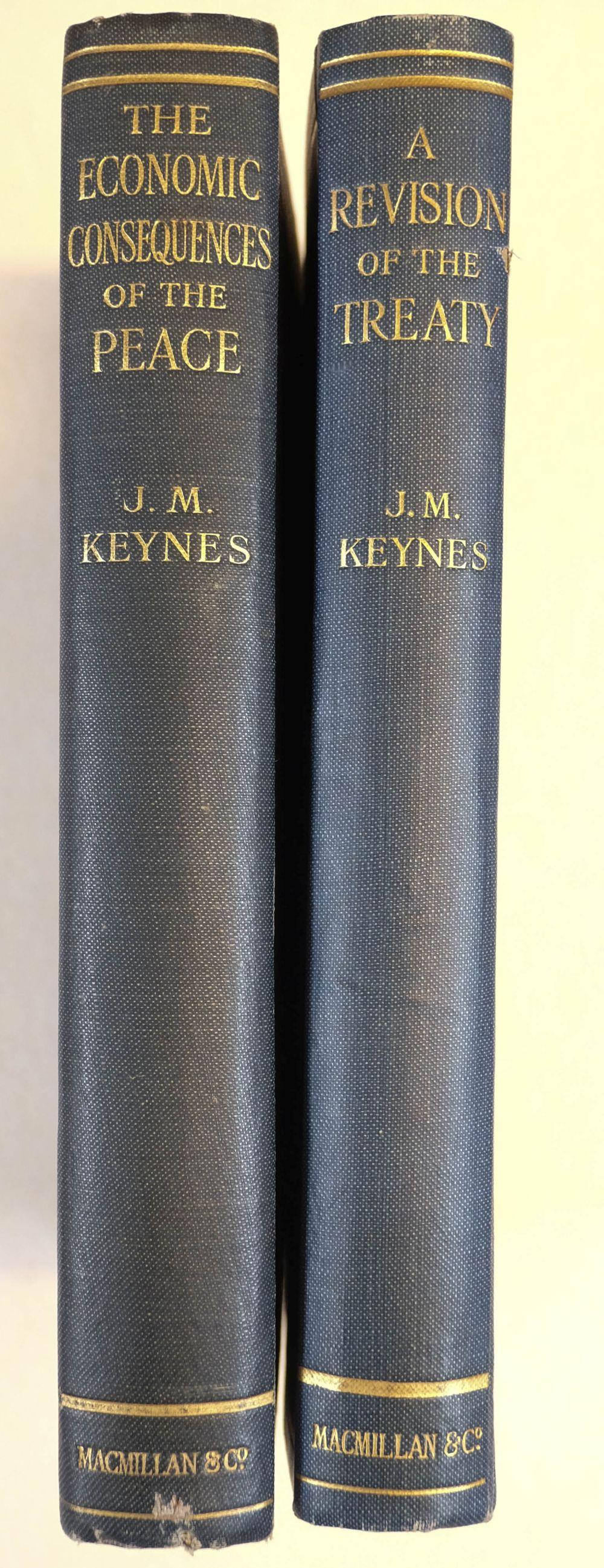 Keynes (John Maynard). The Economic Consequences of the Peace, 1st edition, 1919