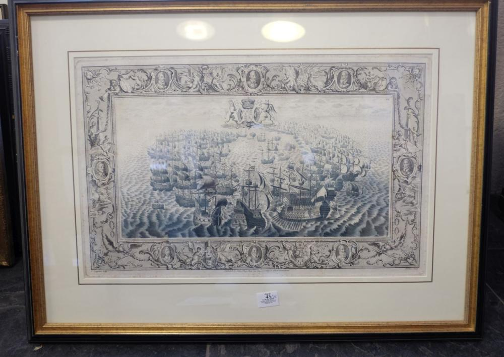 * Prints & engravings. A mixed collection of fifty-three prints, mostly 19th century,