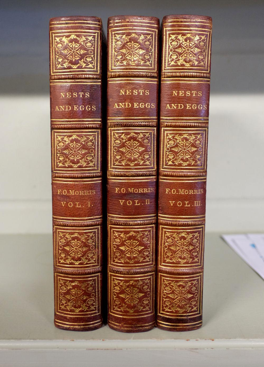 Morris (F.O.) A Natural History of the Nests and Eggs of British Birds, 3 volumes, 1864