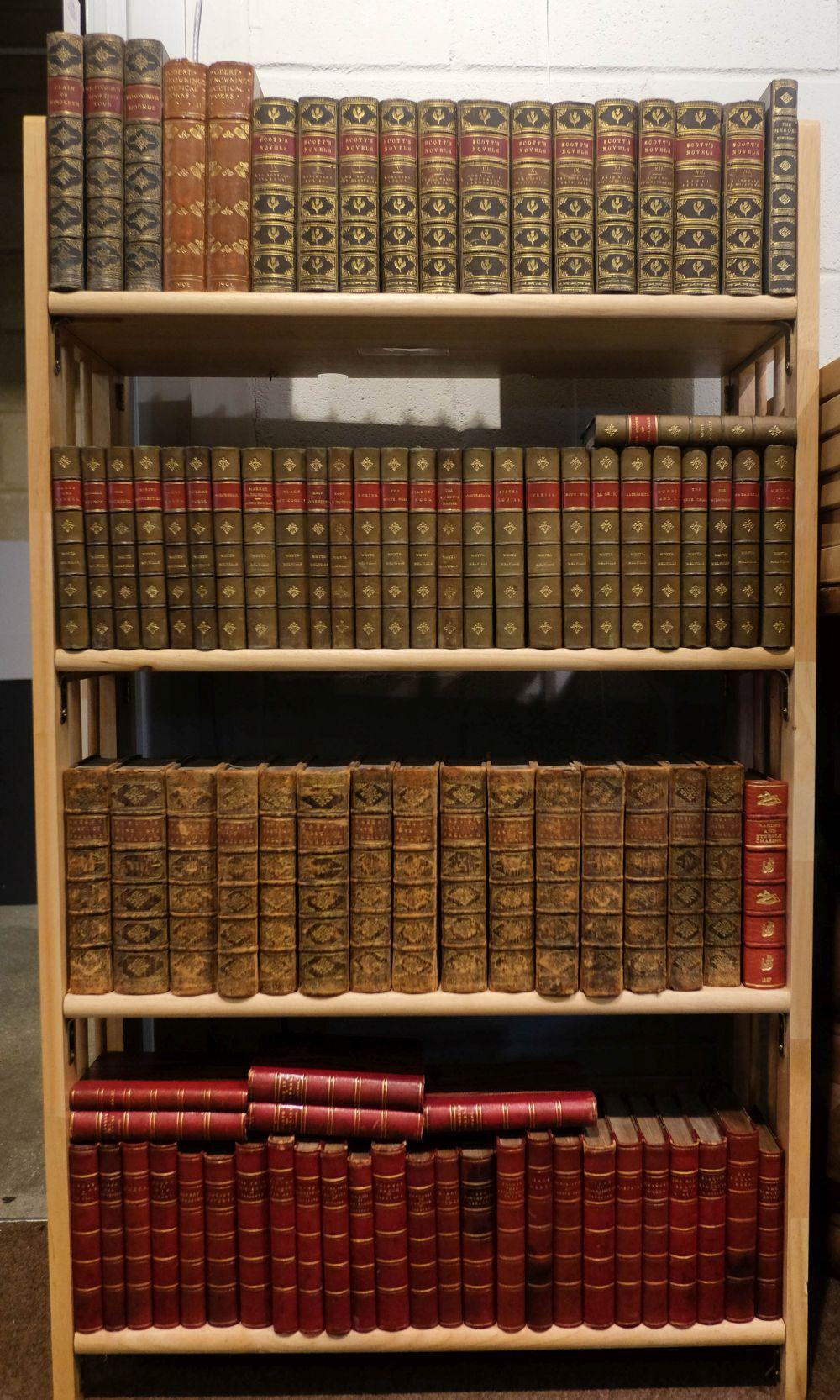 Leather bindings, mostly 19th century