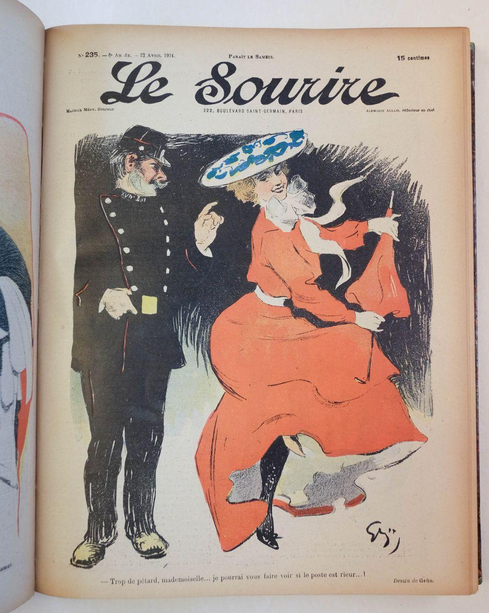 Le Sourire, edited by Maurice Mery, years 1-12 & 14, 1899-1910 & 1912