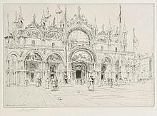 Watson (Charles John, 1846-1927). Venezia, 1900, etching on laid paper, addition