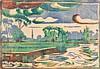Barnard (Margaret, 1900-1992). Clouds, colour woodcut on japan, unsigned, image, Margaret Barnard, Click for value