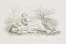 Millais (John Everett, 1829-1896). Summer Indulgence, 1861, etching on wove pap