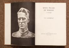 Lot 19: Lawrence (T.E.). Seven Pillars of Wisdom. A Triumph, 1st trade edition, Jonathan Cape, 1935,