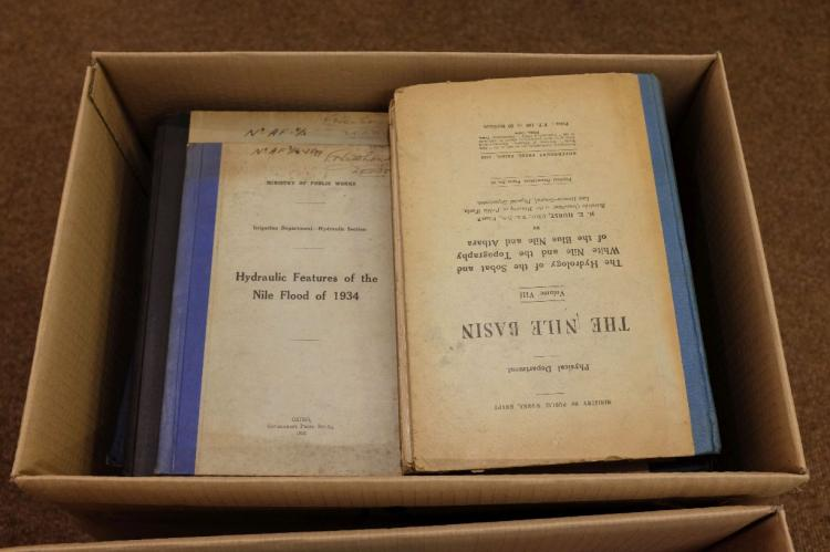 Lot 13: Egypt and Sudan Collection of official reports, offprints and other documents relating to the construction and heightening of the Aswan Low Dam and connected projects, 1902-55,