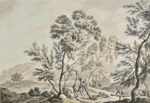 * Brandoin (Michel-Vincent, 1733-1807 ). Near the Forest of Dean, circa 1770,