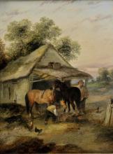 * Lara (Georgina, active 1862-1871). Pair of rustic scenes, 1871,