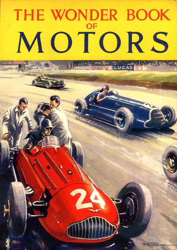 The WONDER BOOK of MOTORS - 1954 Children's Book 7th Edition