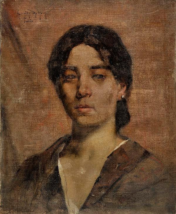 *De Hem (Louise, 1867-1922). Portrait of a young woman,