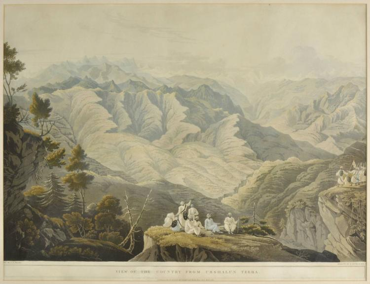 * Fraser (James Baillie). Assemblage of Hillmen, Bheem ke Udar, Crossing the Touse [and] View of the Country from Urshalun Teeba, published Messrs. Rodwell and Martin, 1820,