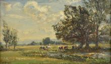 * Royle (Herbert, 1870-1958). Morning in the Meadows,