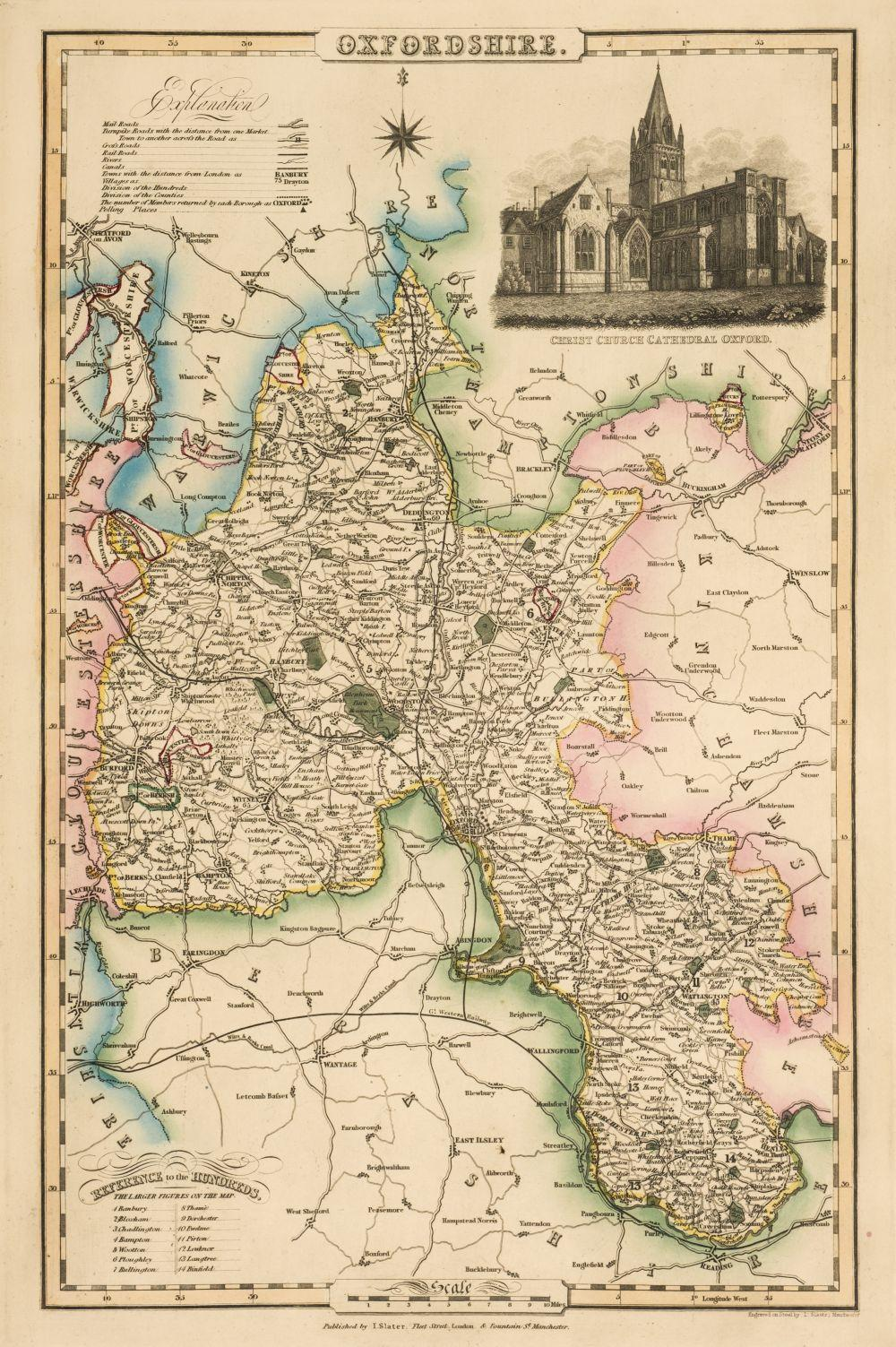 Slater (Isaac, publisher). I. Slater's New British Atlas comprising the Counties of England..., 1857