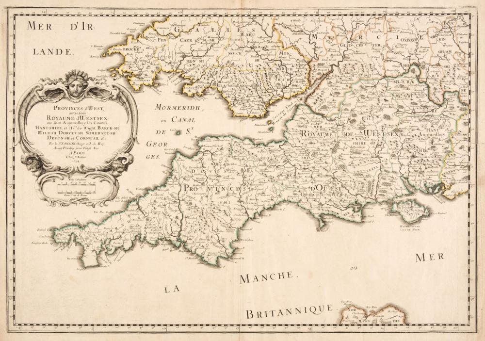 British Isles. Sanson (Nicolas), Three Regional Maps, Paris, 1654