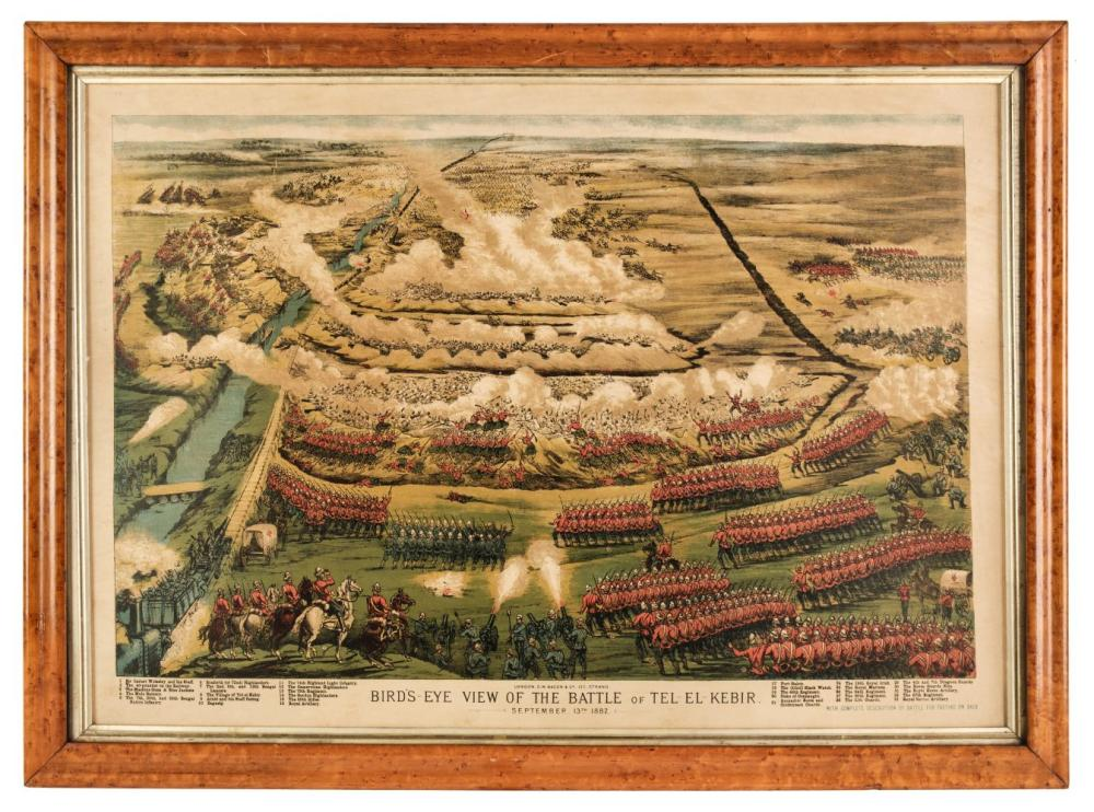 Military. Birds Eye View of the Battle of Tel-El-Kebir, G. W. Bacon & Co. 1882