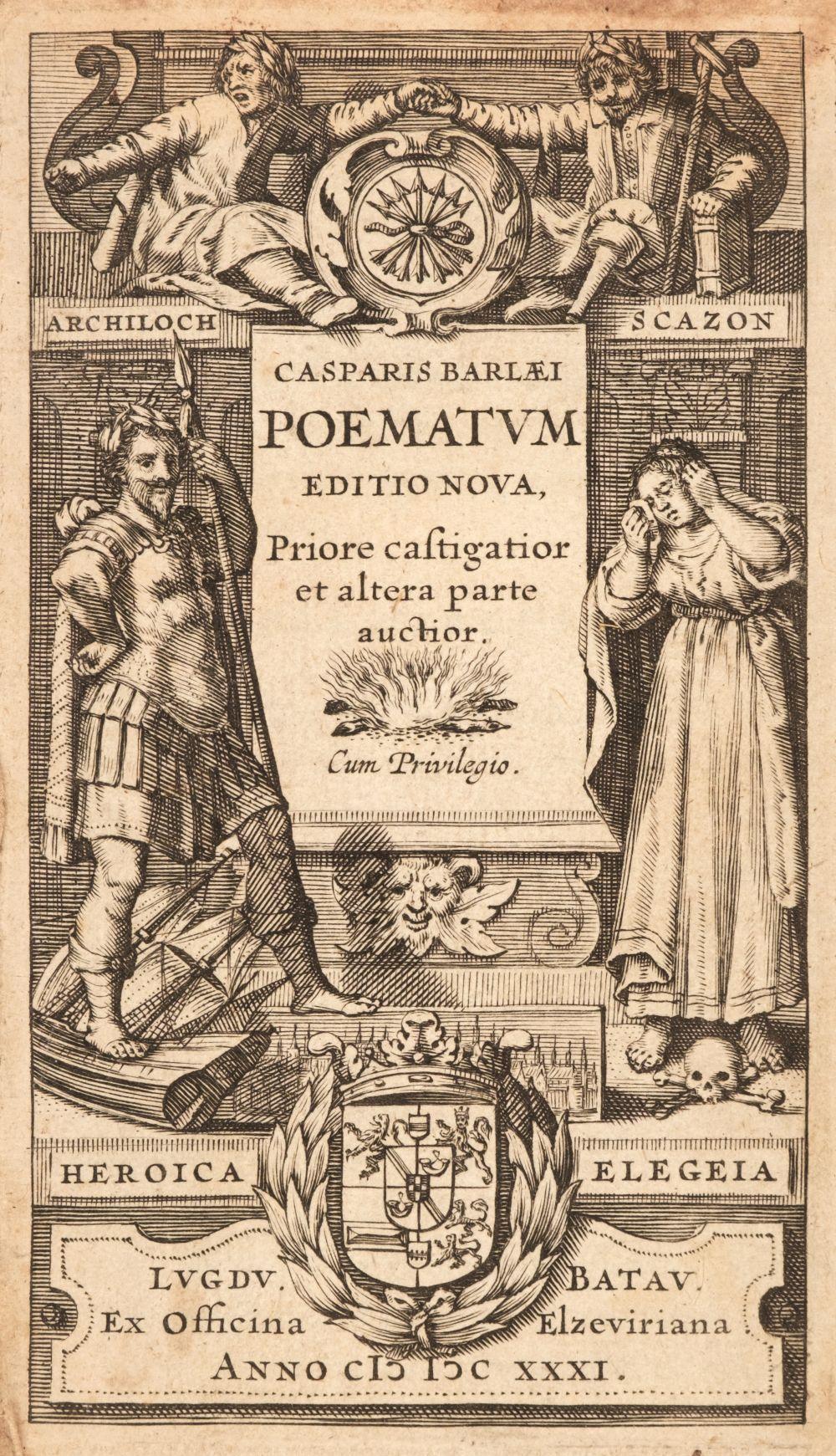 Elzevir Press. Eleven Elzevir Press titles, 1630-76