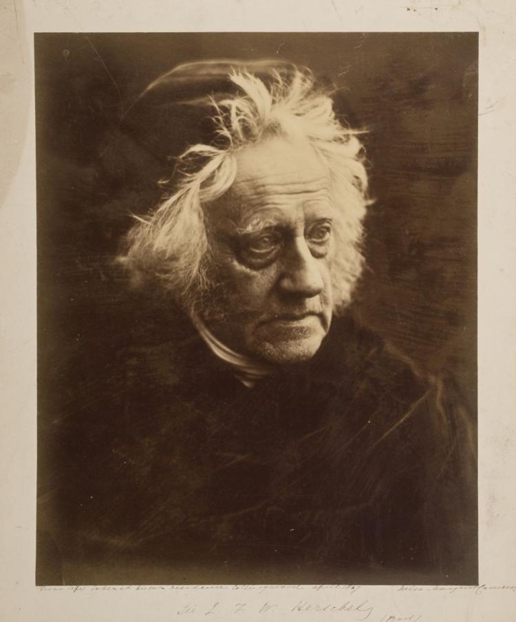 * Cameron (Julia Margaret, 1815-1879). Sir John Frederick William Herschel, April 1867,