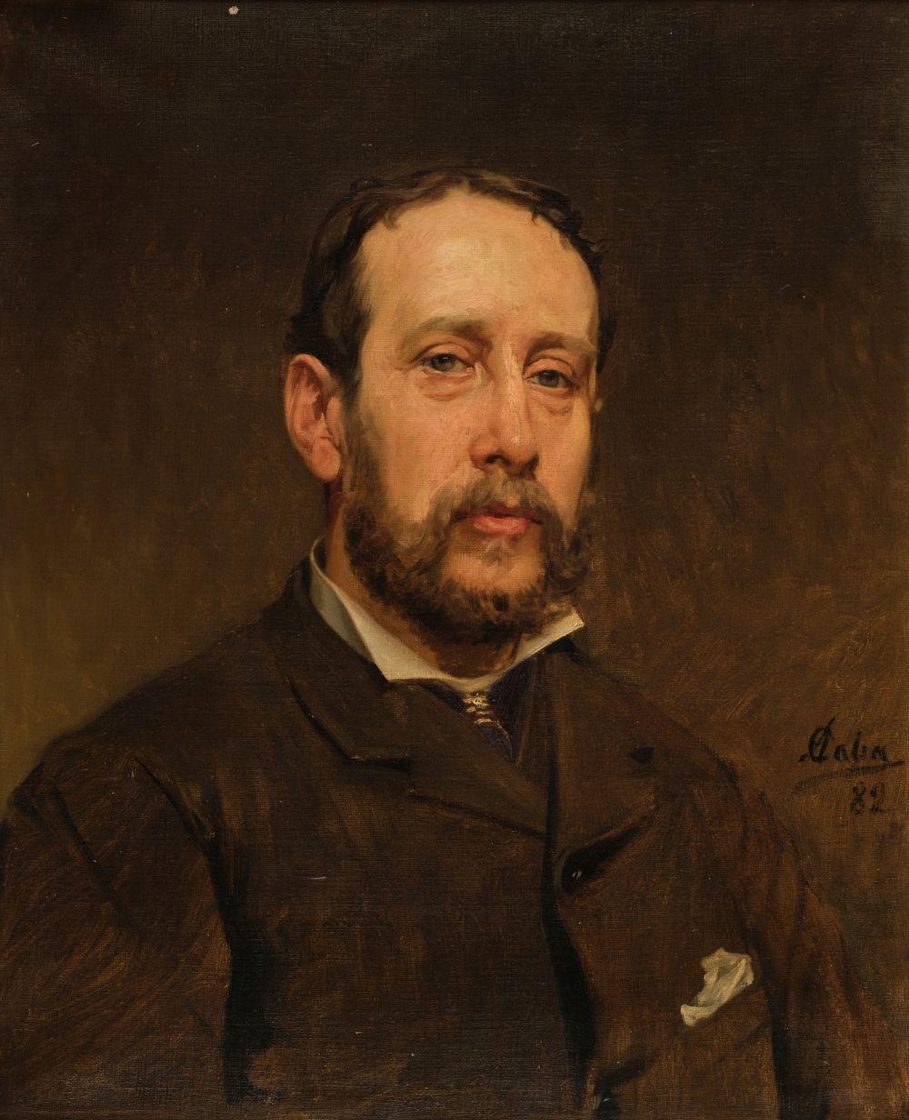 * Caba y Casamitjana (Antonio, 1838-1907). Portrait of a gentleman, 1882