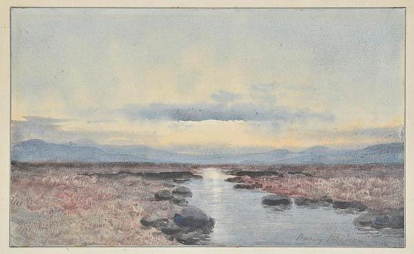 * French (Percy). Landscape at Sunset, West of