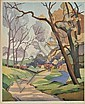 * Slater (Eric, 1896-1963). 'Early Spring', colour, Eric Slater, Click for value