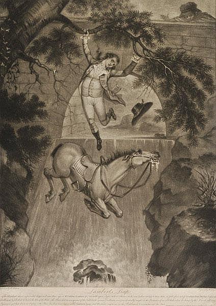 Pollard (Robert 1755-1838). Lambert's Leap, pub.
