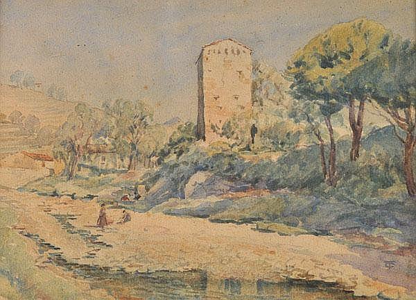 Turletti (Celestino, 1845-1904). Italian rural